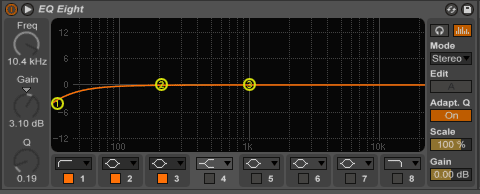 clean up sub bass with mid/side eq
